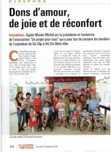 Art Courrier du Vientam - janvier 2019 - P1